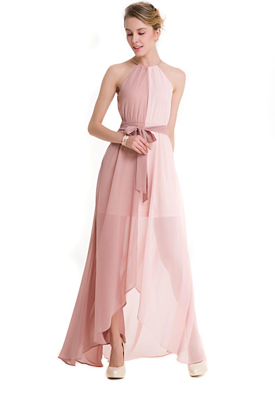 568be8ecde Sukienka dwukolorowa asymetryczna szyfonowa glamour na wesele Fitsu