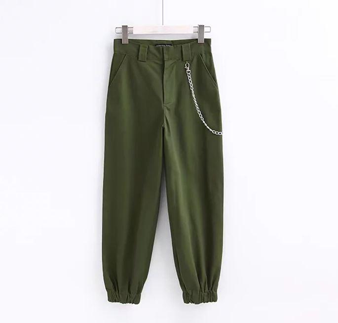 daa8e372ce5db6 ... Spodnie w stylu militarnym cargo bojówki damskie ...