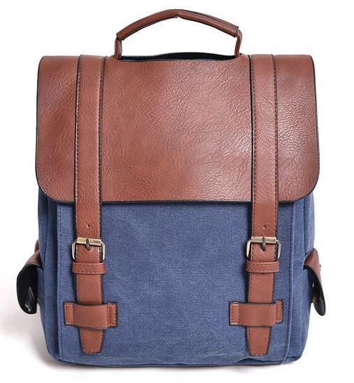 449a18aae7feb ... Plecak szkolny vintage kostka do szkoły na wycieczkę